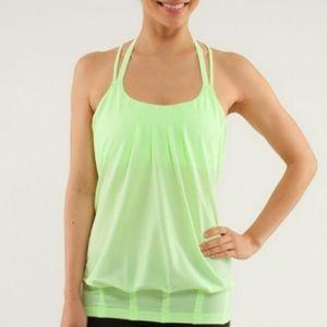 Lululemon green yoga tank top